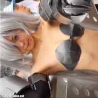 【フェチ】コスプレ撮影会!ほぼ全裸な娘が色んなポーズを決める!