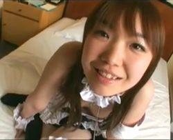 (シロウト)関西弁がカワイらしいコスプレ小娘 ユマ(モザ無)