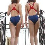 【素人画像】エロ過ぎる競泳水着のお尻と股間・・・他5本。