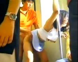 電車の中でリアルファック!